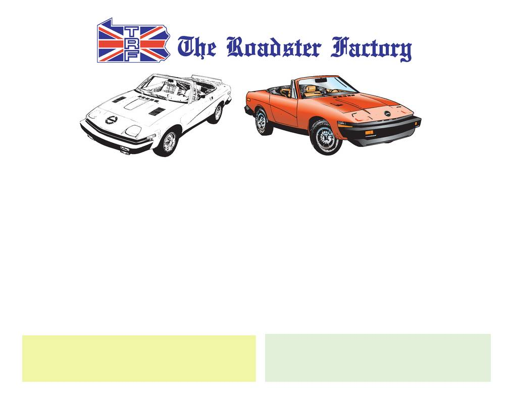 Triumph TR7 and TR8 Models